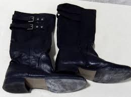 nine west black sz 10m leather boots
