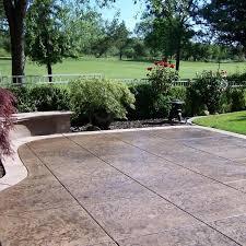 Backyard Concrete Designs Amazing 48 Concrete Patio Cost Calculator Average Cost To Pour Install