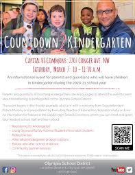Countdown to Kindergarten is March 7 at Capital High School – Here's The  Scoop