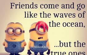 Quotes for friends FunnyMinionQuotesFriendscomeandgo fb Memions 36