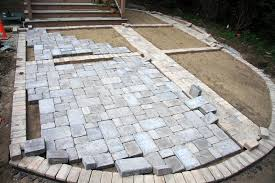 install paver patio darcylea design throughout pavers patio how to install