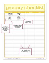 grocery checklist organized meg grocery list printables