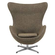 arne jacobsen style egg chair in oatmeal wool arne jacobsen style egg