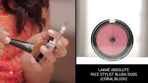 party makeup with lakmé absolute stylist blush