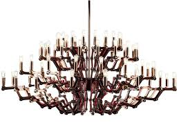 direct light stainless steel chandelier mercury by preciosa lighting