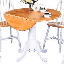 white round drop leaf table coaster round pedestal drop leaf natural