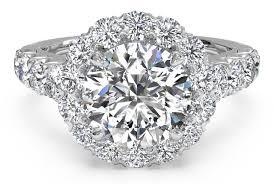 round cut masterwork halo diamond band engagement ring in platinum