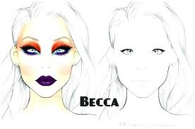 mac makeup face chart template