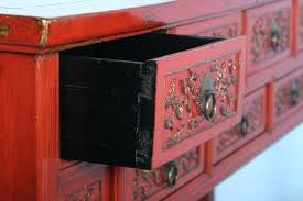 red lacquered furniture. Chinese Red Lacquer Furniture Painted Seven Drawer Lacquered Console Table 3 .