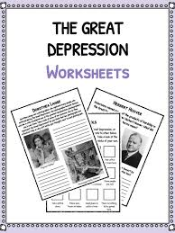 The Great Depression Facts, Information & Worksheets | School ...
