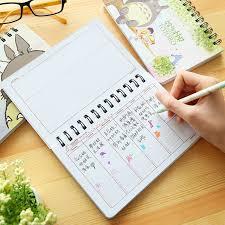 office agenda 4 pcs lot totoro weekly planners cute week agenda notebook journal