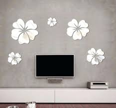 mirror wall art new fashion flower mirror wall art mural decal sticker home decoration hibiscus decal  on mirror wall art 5 piece set with mirror wall art new fashion flower mirror wall art mural decal