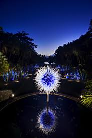 tropical chihuly nights at fairchild tropical botanic garden in c gables florida