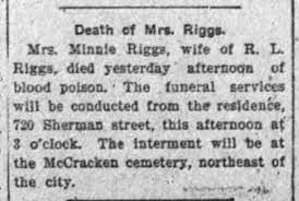 McCracken Cem - Minnie Riggs - Newspapers.com