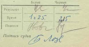 Ussr Chess Score-Sheet 1963 Novopashin-Korchnoi Signed | #128416515