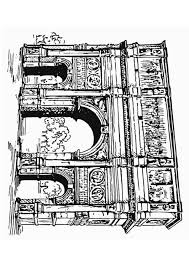 Coloring Page Arc Of Constantine Rome Coloring Picture Arc Of