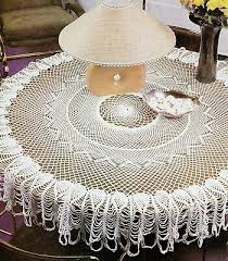 stunning 50 round pineapple tablecloth doily crochet pattern instructions only