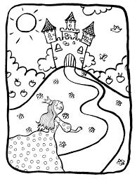 Coloriage Imprimer Chateau De Princesse L L L L