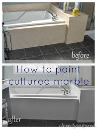 how to paint cultured marble tub surround cleverlyinspired 1 2