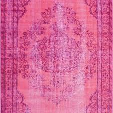 nuloom machine made vintage inspired overdyed rug pink