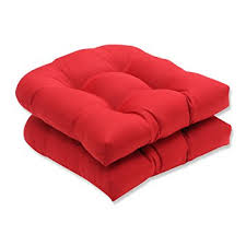 Amazon Pillow Perfect Indoor Outdoor Red Solid Wicker Seat