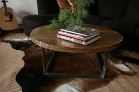 round farmhouse coffee table