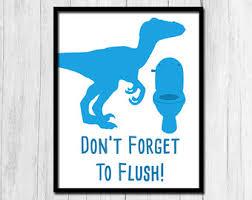 bathroom boy sign. flush sign instant printable art boys bathroom blue rules kid boy