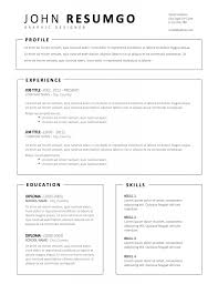 Free Simple Resume Templates Basic Template16 Online Maker Template