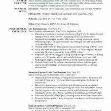 Linux Server Administrator Resume Basic System Administrator Resume