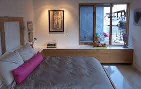 seattle houseboat contemporary bedroom idea in seattle with white walls bedroom furniture solutions