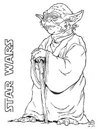 Yoda Is The Grand Master Of Jedi In Star Wars Coloring Page