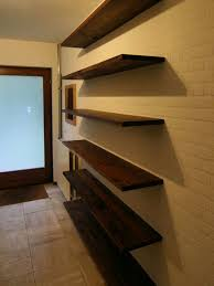 hanging shelves on concrete walls without drilling wall design ideas