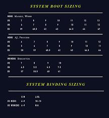 Ride Binding Size Chart Hyperlite Team Boot Ot