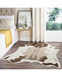 5 x 6 rug. Safavieh Faux Cow Hide Contemporary Animal Cowhide Beige Area Rug - 5\u0027 X 6 5 A