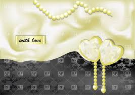 Wedding Background With White Hearts On Silk Vector Illustration Of
