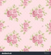 Shabby Chic Kitchen Curtains Cute Seamless Shabby Chic Pattern Roses Stock Illustration