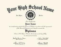 Us High School Diploma Style 2