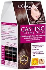 Ice Cream Hair Dye Colour Chart Loreal Paris Casting Creme Gloss 415 Ice Chocolate Hair Color Single Use Cream Colorant Conditioner Gloss Developer 87 5g 72ml
