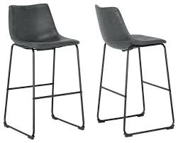 leather bar chairs iron frame vintage gray faux leather bar stools set of 2 contemporary bar leather bar chairs leather bar stools