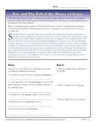 best gothic literature images edgar allen poe  edgar allan poe printable activity about the fall of the house of usher