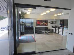 commercial glass door and glass wall