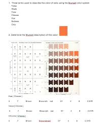 Munsell Color Chart Test Solved 1 Three Terms Used To Describe The Color Of Soils