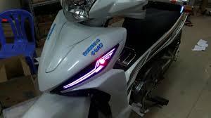 1001+ phong cách độ đèn Led | Review Wave RSX 110 lắp đèn led và đèn trợ  sáng cực đẹp - YouTube