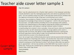Cover Letter Teacher Aide Position Ameliasdesalto Com