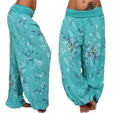 <b>Fashion Bohemia Style Print</b> Floral Women Casual Loose Pants ...