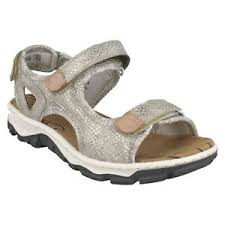 Rieker Size Chart Us Details About Ladies Rieker 68852 Glitter Hoop Loop Strap Walking Sandals Summer Size Vegan