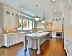 White Kitchen With Gray Island White Kitchen With Pale Gray