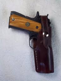 browning 1911 22 belt custom leather holster owb right hand draw rh