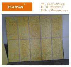 moistureproof perforative fiberglass wall panels with thermal insulation images
