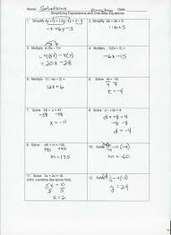 worksheet works solving multi step equations variables on both